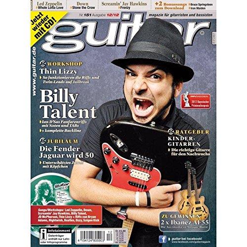 Guitar Ausgabe 12 2012 - Billy Talent - mit CD - Interviews - Workshops - Playalong Songs - Test und Technik