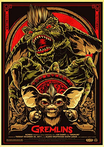 liuguangyicai Wall Painting Poster and Print Movie Film Gremlins Canvas Picture Wall Stickers Art Oil Painting 50X70Cm B1737