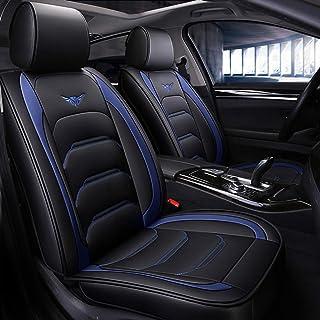 9 piezas delanteras del sistema completo PU-cuero y los asientos traseros cubren antideslizantes Deluxe Automotrices cojines de asiento Universal Fit 5 asientos Vehículos turismo SUV,A