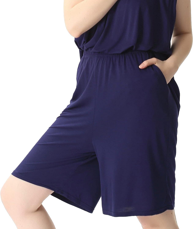 JOINFUN Women Plus Size Pajama Shorts Comfy Lounge Bottom with Pockets Stretch Sleepwear Pj Bottoms Sleep Shorts