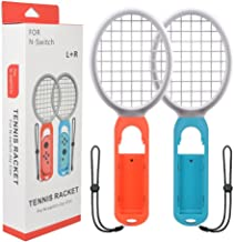 Tennis Racket for Nintendo Switch Joy-Con Controllers Games Mario Tennis Aces Somatosensory Games Nintendo Switch Accessories Blue and Red Tennis Racket Only Use Swing Mode(1 Pair)
