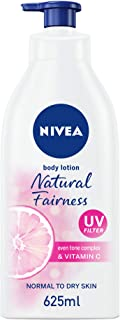 NIVEA Natural Fairness Body Lotion, All Skin Types, 625ml