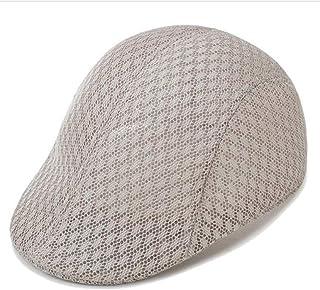 88b48a943d1b7 Mens Hats Summer Fashion Breathable Mesh Beret Hats Newsboy Cap Gatsby  Unisex Casual Adjustable Mesh Sun