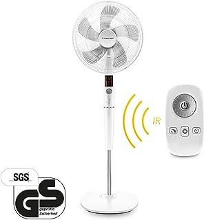 Trotec Ventilador silencioso ventilador de pie diseño TVE 26S | muy 26potencias) 35W de potencia 85° de oscilación 40cm Negro de color blanco para fría climática en los días cálidos