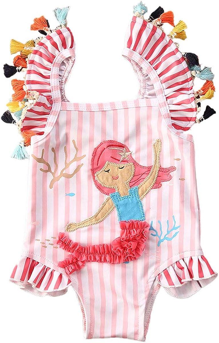 Spasm price Denver Mall LZCYILANXIULSL Toddler Kids Baby Girl Swimsuit One Piece Ruffle