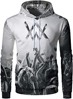 YUANSHAN Dogs Pattern Mans Long Sleeve Hoodie Casual Pocket Hooded Sweatshirt