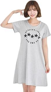 [MIKA&MAYA] ワンピース 半袖 リゾート 膝丈 チュニック Tシャツ ルームウェア レディース