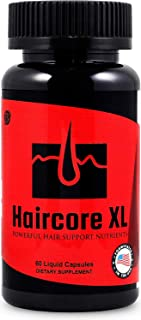 Haircore XL: DHT Blocker, Stops Hair Loss, Thinning, Balding, Repairs Hair Follicles, Promotes New Hair Growth, Regrow Hair, Men & Women, All Hair Types, 30 Day Supply