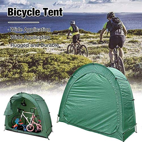 QIBIN Bicycle Tent Bike Storage Shed Cover Waterproof Dustproof With Thicken Fabric Reinforced Alloy Bracket, For Outside Outdoor Bicycle Sundries Storage