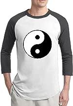 Chinese Tai Chi YIN YANG Man 3/4 Sleeve Vintage Baseball Shirts
