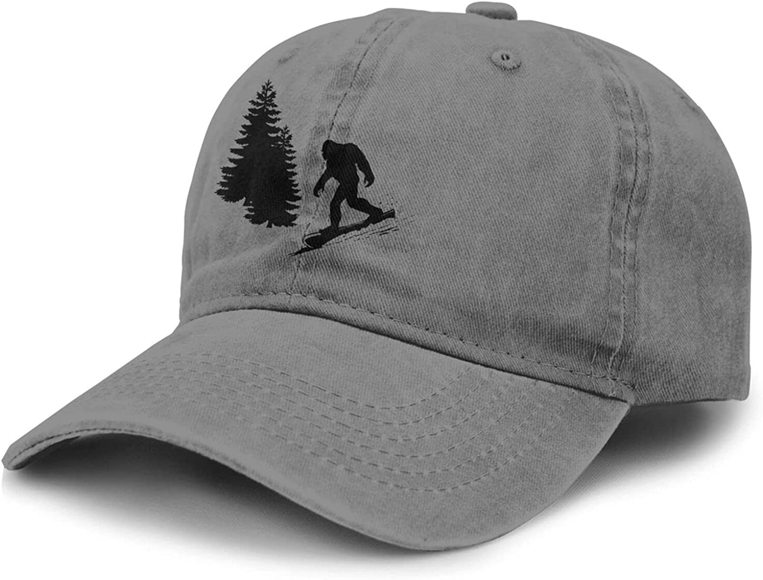 PARKNOTES Bigfoot Skiing Cheap and Durable Adult Cowboy Hat Unisex