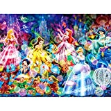 5D DIY Diamond Painting Full Square Drill, Ariel Snow White Stained Glass Cartoon Pattern Rhinestone Crystal Embroidery Drawing Gift for Adults Kids,16'X12' Arts Craft Canvas for Home Wall/Room