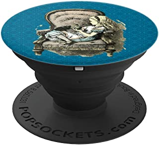 Vintage Alice in Wonderland Chair & Kitten Illustration - PopSockets Grip and Stand for Phones and Tablets