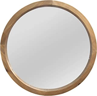 Stratton Home Decor Maddie Wood Mirror, Light Natural Wood, 20.00 W X 2.25 D X 20.00 H (S13562)