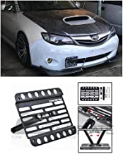 Extreme Online Store Replacement for 2008-2014 Subaru Impreza WRX & STi   EOS Plate Version 1 Front Bumper Tow Hook License Relocator Mount Bracket Tow-007 (Mid Size)