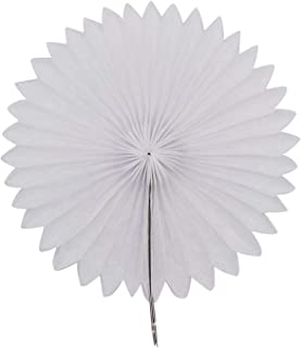 Decorative Wedding Party Paper Crafts 4 inch 12 inch Paper Fans DIY Hanging Tissue Paper Flower for Wedding Birthday Party Festival,J01 White,4inch
