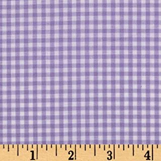 Robert Kaufman Kaufman 1/8in Carolina Gingham Lavender Fabric By The Yard