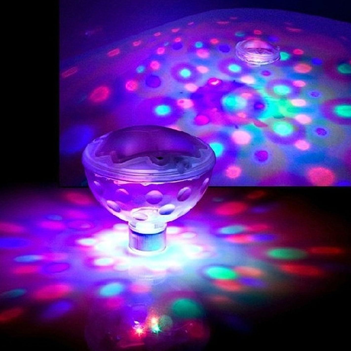 資料他のバンドでソース光るライト 五種発光モード 防水LEDライト 水中 LEDディスコライト バスルーム お風呂に パーティ プール 浴槽 SPAライト カラフルな浮動ランプ (写真のショーとして)