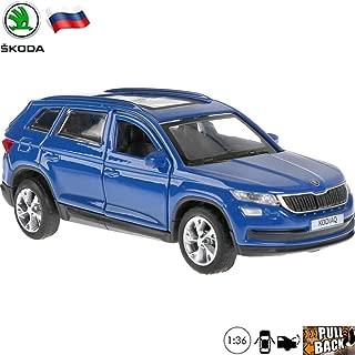1:36 Scale Diecast Metal Model Car Skoda Kodiaq Blue Crossover SUV Russian Die-cast Toy Cars