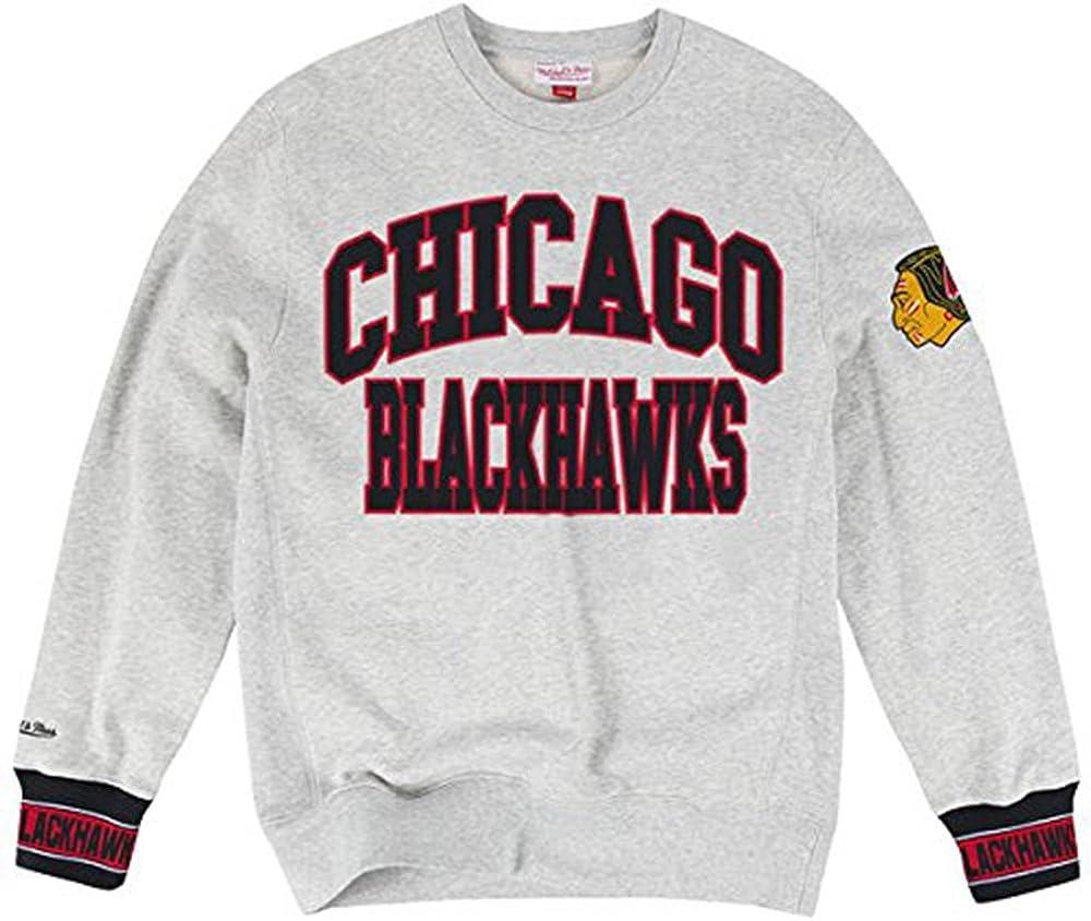 Mitchell & Ness Chicago Blackhawks Team Celebration Crew Neck Pullover
