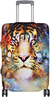 Mydaily Space Tiger Galaxy Luggage Cover Fits 30-32 Inch Suitcase Spandex Travel Protector XL