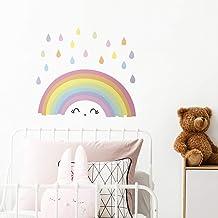 WALPLUS Regenboog Muurstickers Kwekerij Jongen Meisjes Verwijderbare Zelfklevende Muurschildering Art Decals Vinyl Woondec...