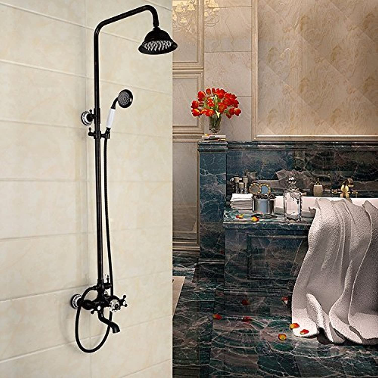 To The Wall Mounted Swivel Belt Delete All Copper Antique Pull Faucet Shower Shower