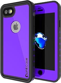 iPhone 7 Waterproof Case, Punkcase [StudStar Series] [Slim Fit] [IP68 Certified] [Shockproof] [Dirtproof] [Snowproof] Armor Cover for Apple iPhone 8 & 7 [Purple]