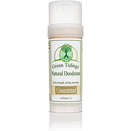 Green Tidings Natural & Unscented Deodorant | Vegan, Organic Deodorant for Men and Women, Fragrance Free & Aluminum Free Deodorant, Underarm Antiperspirant 2.7oz 1 Pack