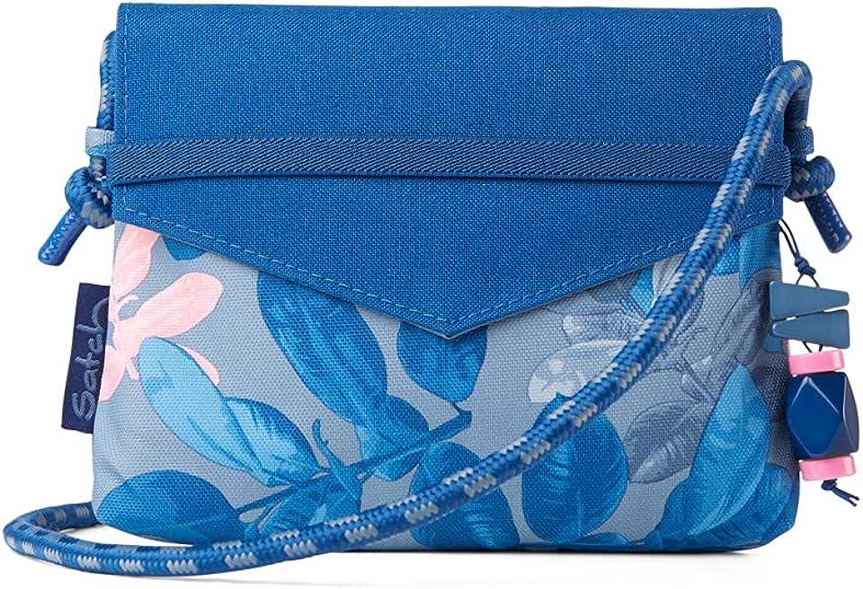 Beauty Wallet - Reißverschlussfach, Spiegel - Summer Soul - Blau