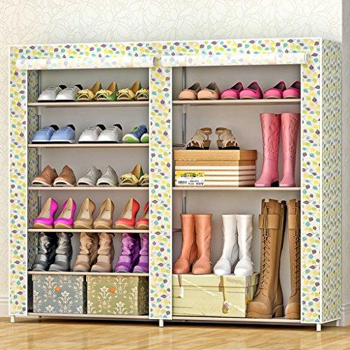 Chaussure Cabinet de Simple Ensemble de Couches Multiples Tissu d'acier Pliable en Acier Shoebox Economy Porte Anti-poussière (Couleur : #3)