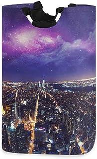 Panier à Linge USA New York City Night Grand Panier à Linge Sale Pliable Sac Grand paniers de Rangement en Tissu Rectangle...