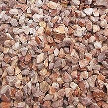 天然石 砕石砂利 1-2cm 20kg ローズピンク (ガーデニングに最適 ピンク砂利)