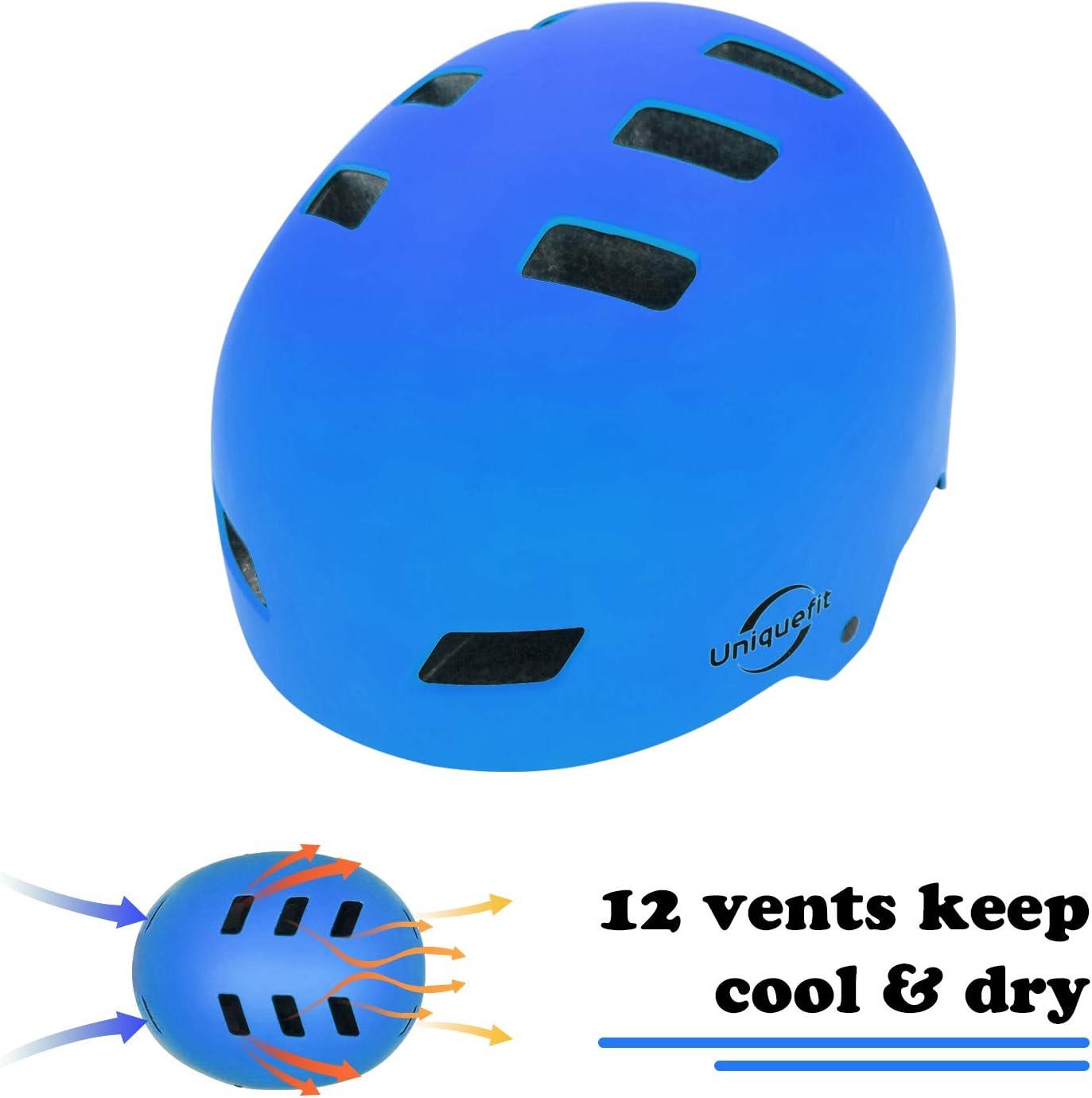 UniqueFit Kids Adult Helmet Adjustable Protective Helmet for Scooter Cycling Roller Skate,Age 5 and Older