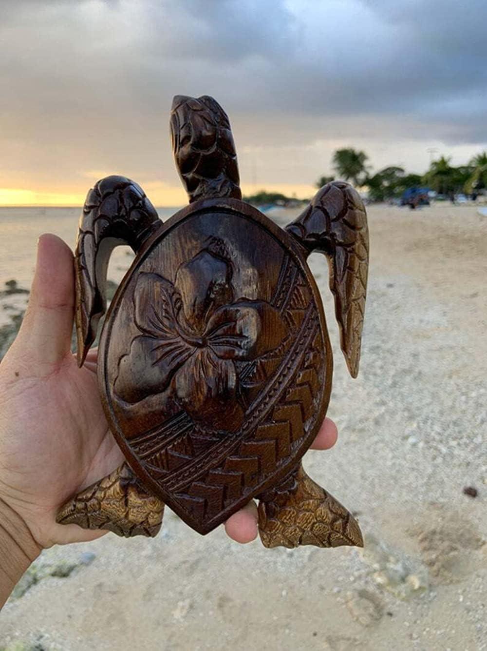 mart Hawaiian Sea Turtle Wood Backya Beach San Francisco Mall Themed Carving-Hand-Carved