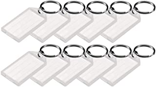 Lucky Line Key Tag with Flap,Split Ring & Paper Insert For Labeling, Key Organization & Identification, 10-Pack, Clear (60...