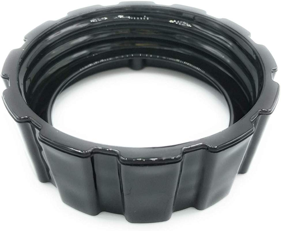 Blendin Replacement Bottom Base Ring Plastic Cap Compatible With Hamilton Beach 990035900 HB908 909 919 Blenders Black