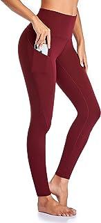 Occffy Leggings Sportivi Donna Opaco Corsa Allenamento Fitness Spandex Palestra Tasca Tasche Pantaloni da Yoga Alta Vita Oc01