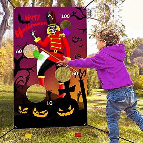 Halloween Bean Bag Toss Games For Kids