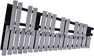 comprar comparacion ammoon Xilófono Plegable 30 Nota Glockenspiel Marco de Madera Barras de Aluminio Instrumento Musical Percusión Regalo con ...
