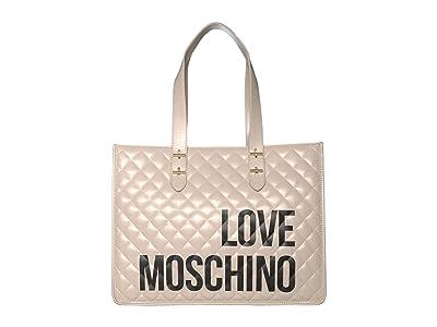 LOVE Moschino Love Shopping Bag (Ivory) Handbags
