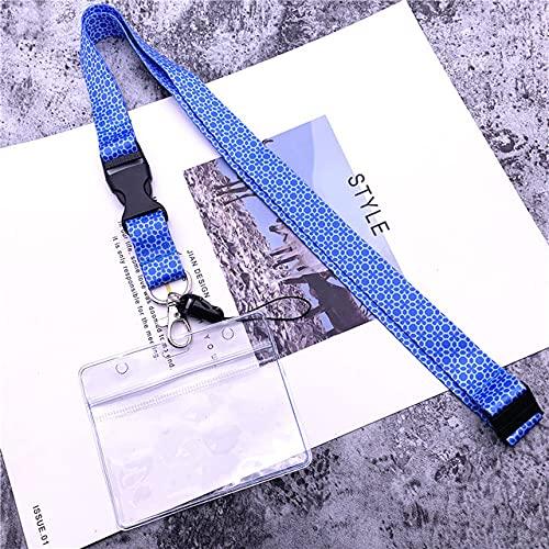 FYMIJJ Accesorios para teléfonos móviles Repuestos cordón Llavero Banda cordón Correa para el Cuello Llavero Cordones identificación Titular de la Insignia Insignia, 04set y Cuerda