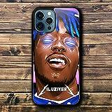 DXX-HR Funda iPhone 12 Mini Case Black TPU Shockproof Soft Silicone Cases Cover LI-L U-UZ-I V-ER-T I-LU-ZIV M-265