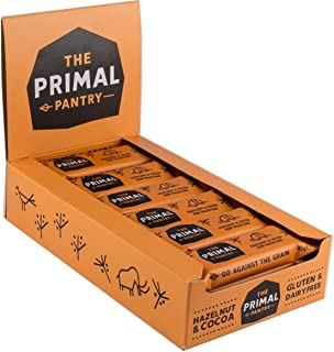 The Primal Pantry Hazelnut and Cocoa Paleo Bar 45 g (Pack of 18)