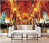 ZAMLE 3D fototapete Custom Mural europäischen christlichen Architektur Kirche palast Hintergrund dekor Zimmer tapete für wände 3 d, 300x210 cm (118.1 by 82.7 in)