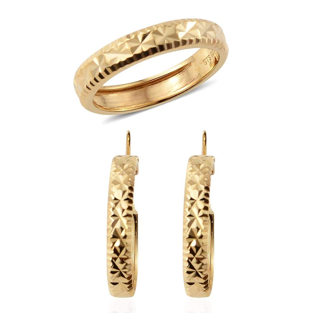 Ring Hoops Hoop Earrings Set 925 Sterling Silver Jewelry for Women Size 7