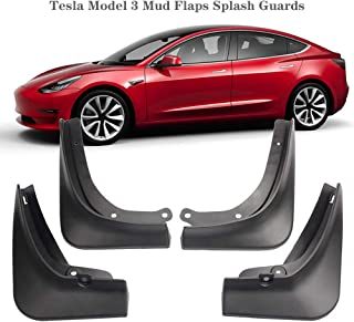 Mud Flaps Splash Guards for Tesla Model 3 Fender Flares Front and Rear Protect with Fixing Screw(Set of 4)