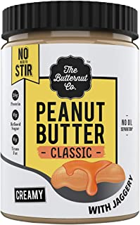 The Butternut Co. Peanut Butter Classic with Jaggery, Creamy 1KG (No Oil Separation^, Vegan, High Protein,No Stir)