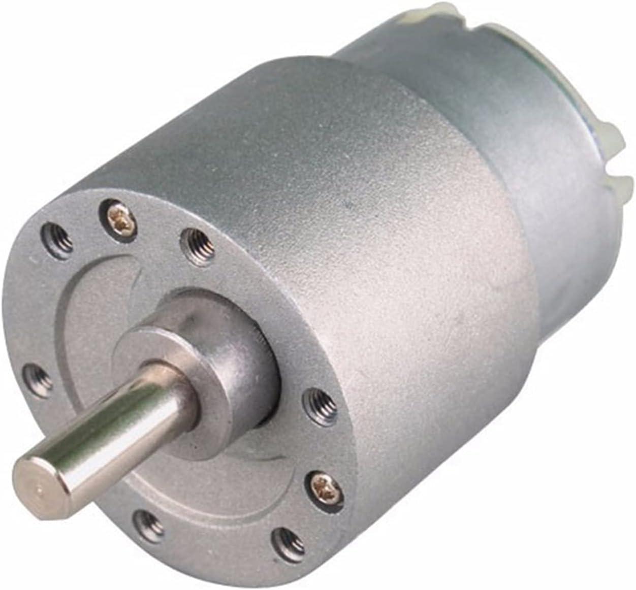 Gfpql WYanHua-Motor Motor invertido de reducción, 3 7GB-500 Motor engranado, DC 12V 6V 3.5-50 0RPM, Eléctrico DC 12 Motor voltio Mini Precisión (Speed(RPM) : 12v 80rpm)