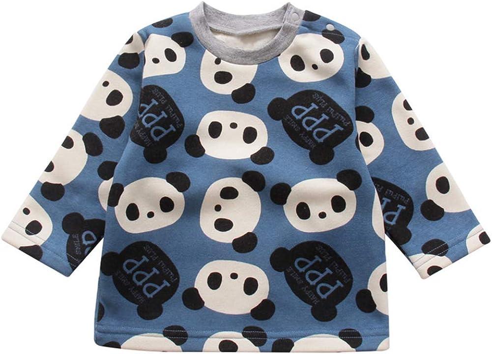 LittleSpring Little Boy and Girl Cartoon Pullover Little Panda Cute Sweatshirt 1-6T